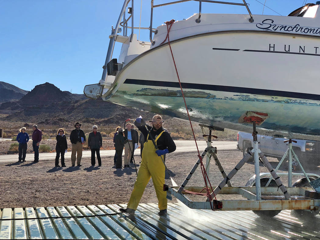 Lake Mead National Recreation Area As part of the Department of the Interior's Safeguarding the West from Invasive Species initiative, federal and state partners gathered at Lake Mead Natio ...