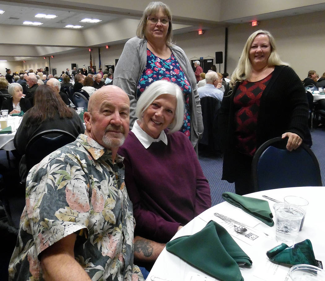 Hali Bernstein Saylor/Boulder City Review Among those attending Boulder Dam Credit Union's annual meeting and dinner on Wednesday, Feb. 21, 2018, were, from left, Harold Critcher, Karla Surverson, ...