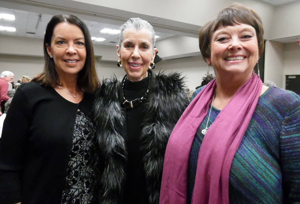 Hali Bernstein Saylor/Boulder City Review Enjoying the opportunity to visit with each other at Boulder Dam Credit Union's annual meeting and dinner on Wednesday, Feb. 21, 2018, at Henderson Conven ...