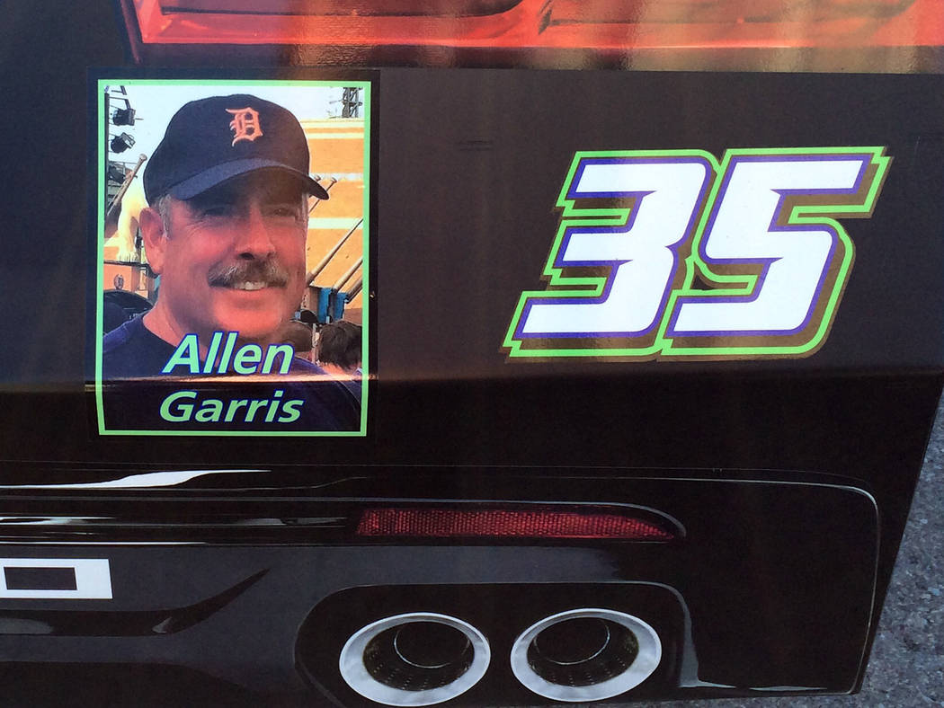 Barbara Garris NASCAR Xfinity Series driver Joey Gase honored the late Allen Garris on his car for Saturday's race at the Las Vegas Motor Speedway. Garris' tissues and organs were donated to 72 pe ...