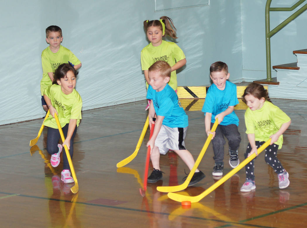 Kelly Lehr Boulder City Parks and Recreation Department's youth floor hockey league is currently featuring games for kindergartners through second graders.