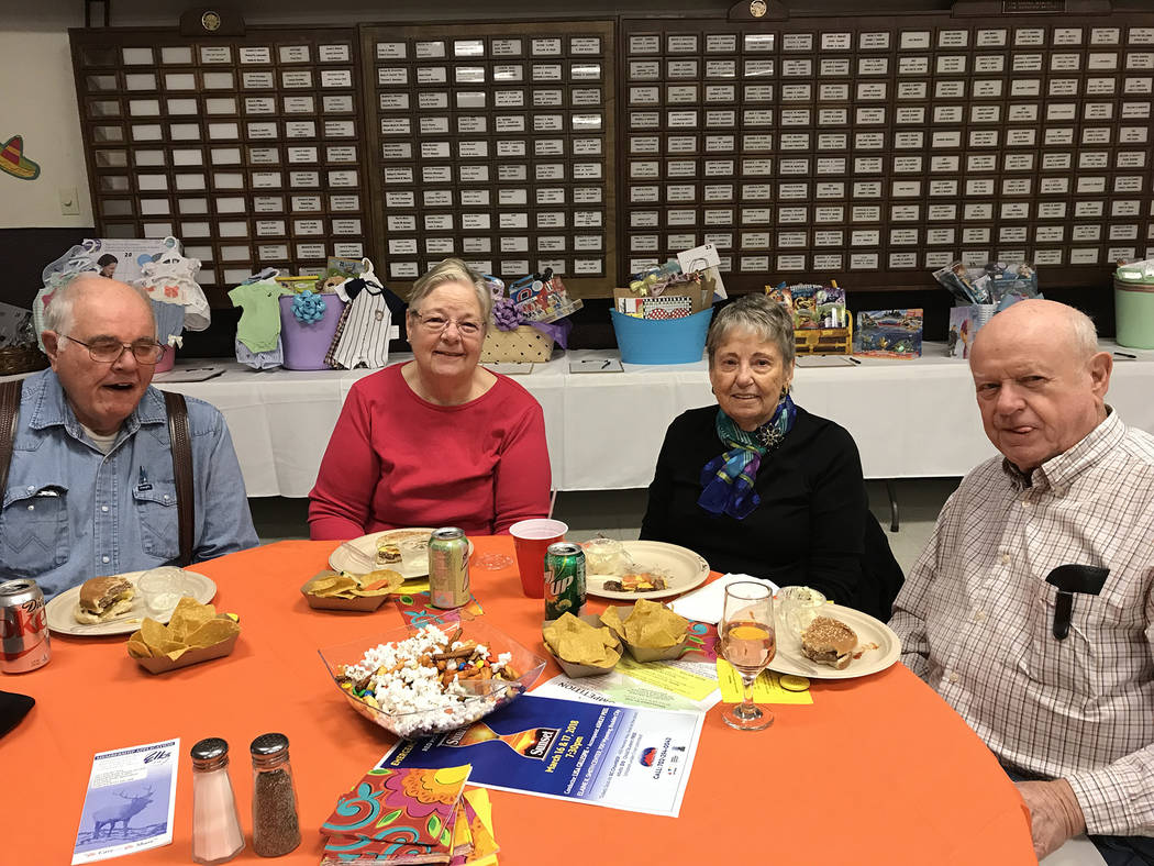 Hali Bernstein Saylor/Boulder City Review A lunch featuring freshly grilled hamburgers and hot dogs was available to help raise funds for Emergency Aid of Boulder City at Saturday's March 3, 2018, ...