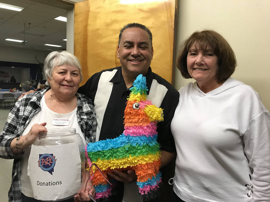 Hali Bernstein Saylor/Boulder City Review Working behind the scenes to ensure Saturday's, March 3, 2018, fundraiser for Emergency Aid of Boulder City went smoothly were, from left, Helen Breeden,  ...