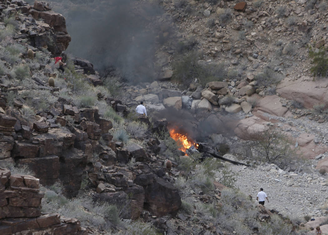 Five people died when a Papillon Group helicopter crashed in the Grand Canyon, Arizona, on Feb. 10.