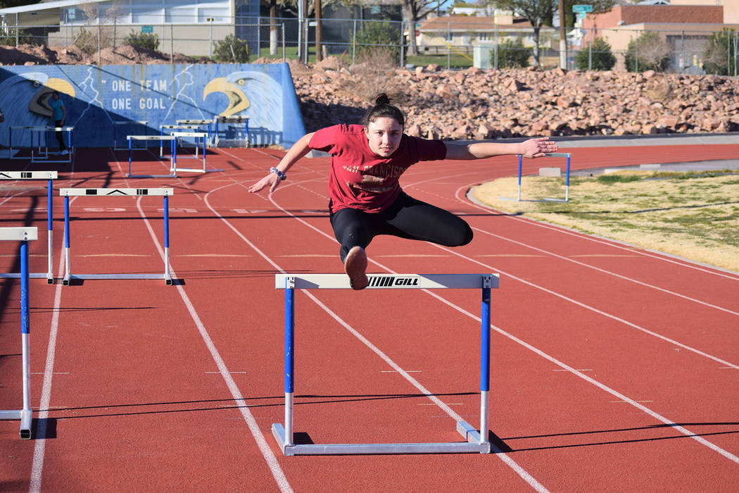 Robert Vendettoli/Boulder City Review Boulder City High School junior Geri Wachtel hurdler is ready to step up and help fill the void after four key members of the girls track team graduated last  ...