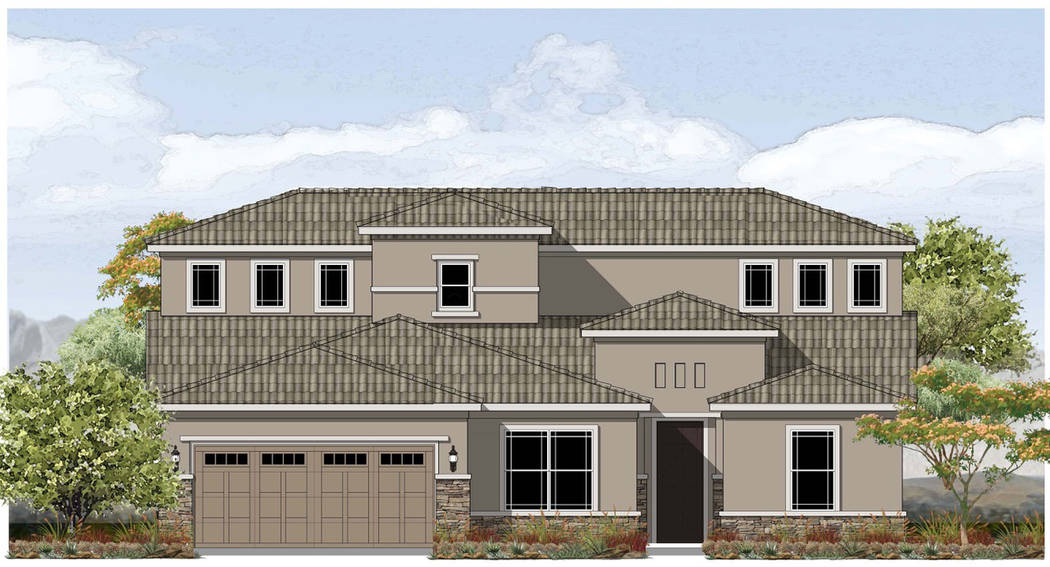 Red 7 Communications  The Boulder Hills subdivision will feature three floor plans, including this Desert Prairie model.