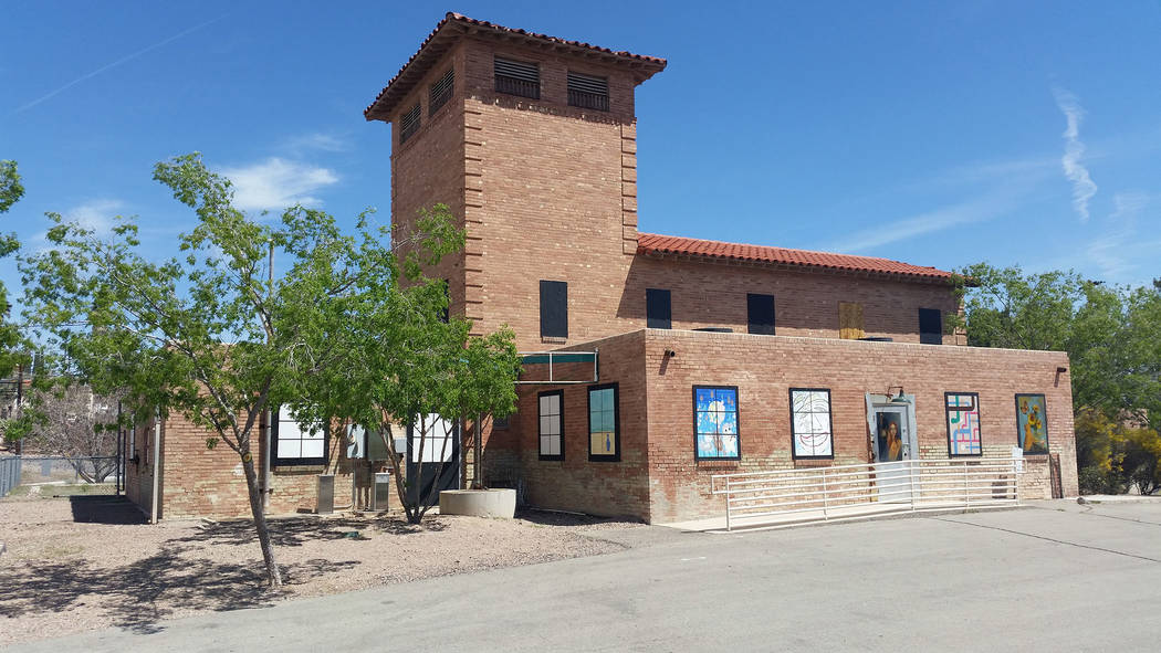 Celia Shortt Goodyear/Boulder City Review The old water filtration plant at 300 Railroad Ave. was built in the 1930s and is one of the historic structures in Boulder City. Officials are researchin ...
