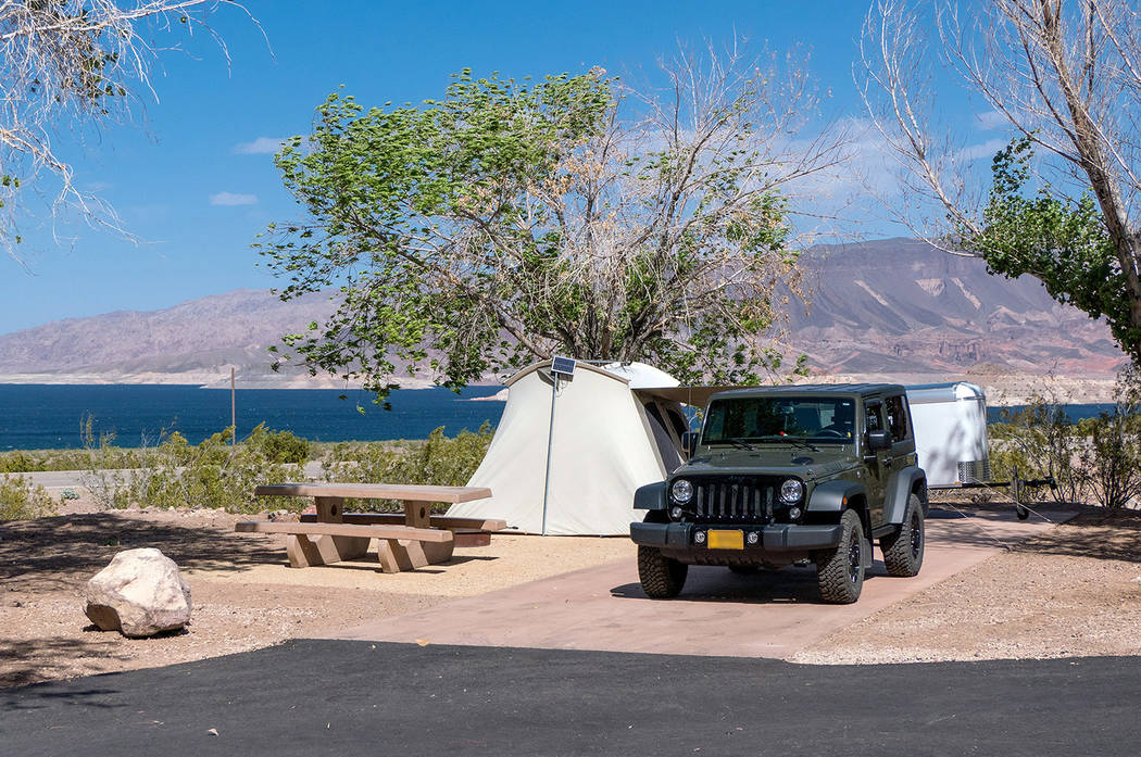 National Park Service The campground at Boulder Beach in Lake Mead National Recreation Area has been renovated. The increased fees starting on June 1 will fund additional renovations.