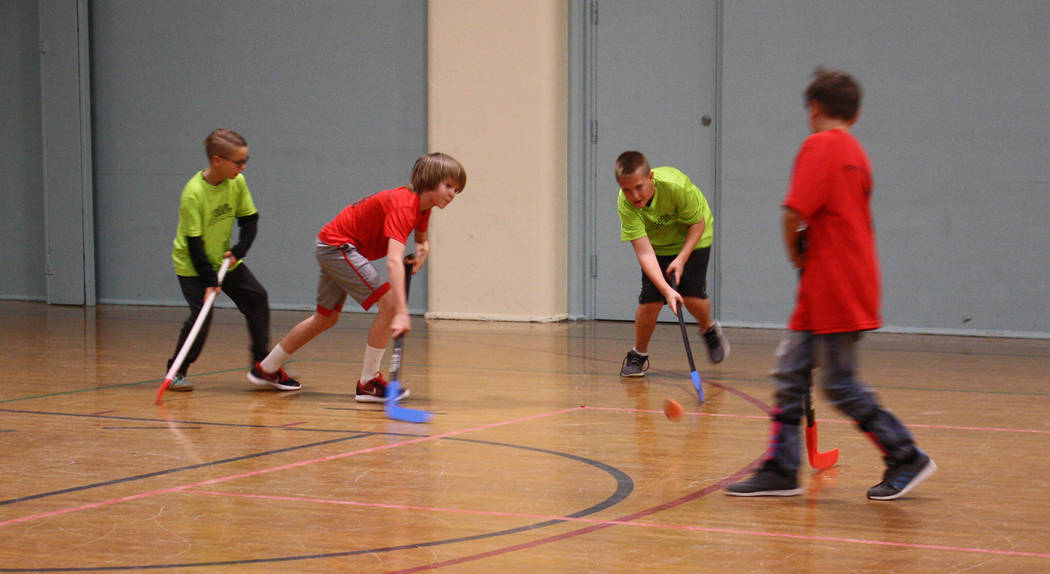 Boulder City Parks and Recreation Department's youth floor hockey league for third- through sixth-graders came to an end Monday, April 23. Kelly Lehr