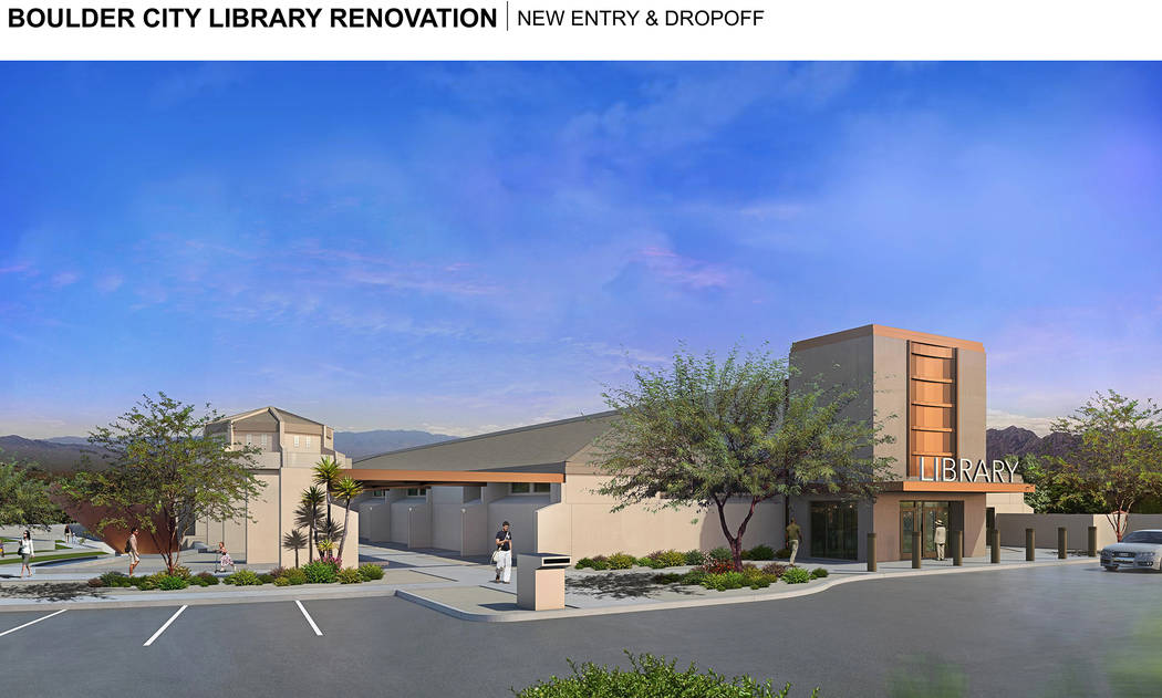 LGA The proposed renovation for the Boulder City Library includes a new entrance.