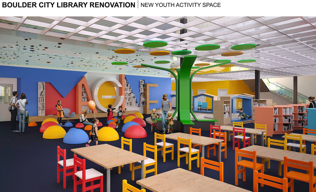 LGA One of the features of the library's proposed plans is a designated space for children in the lower level.