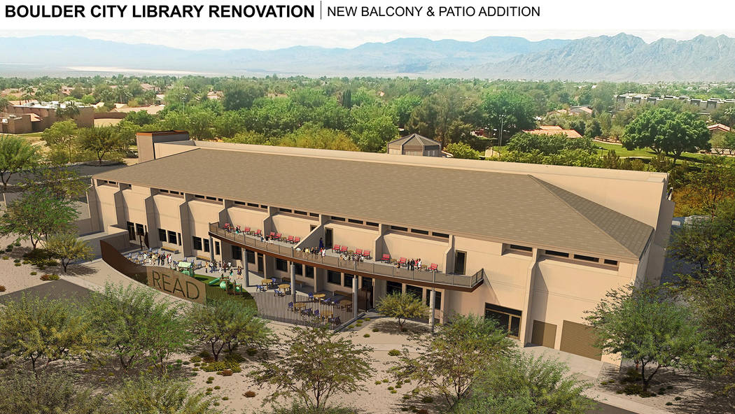 LGA The proposed renovation to the Boulder City Library includes an addition and two new patios for visitors.
