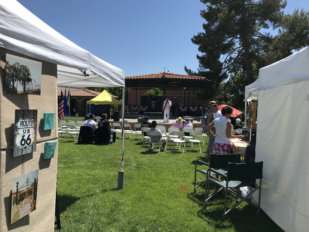 Hali Bernstein Saylor/Boulder City Review Visual and performing arts were showcased on Saturday as Boulder City Art Guild held its 33rd annual Spring ArtFest. New this year was the Dam Strong For ...