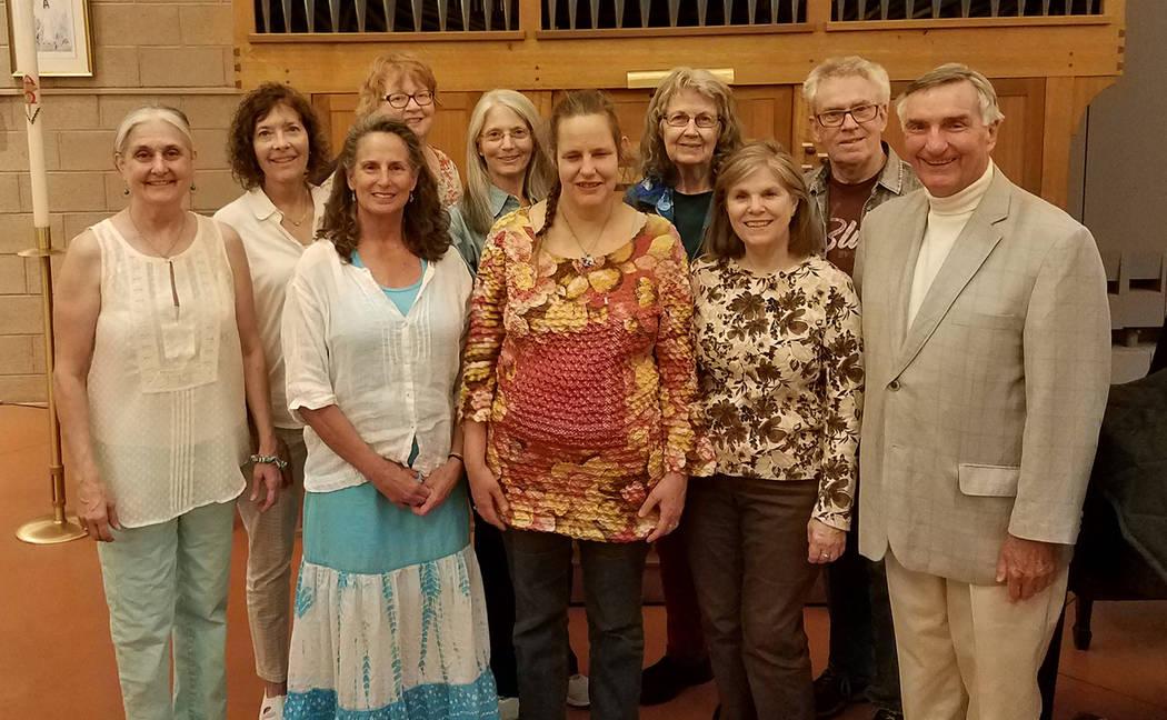 Francyl Gawryn Members of the Interfaith Peace Choir include, from left, left to right: Francyl Gawryn, director; Dee Ann Emmer, Bonni Selleck, Pam Martin, Randi Macosko, Teresa Cochran, Florene ...