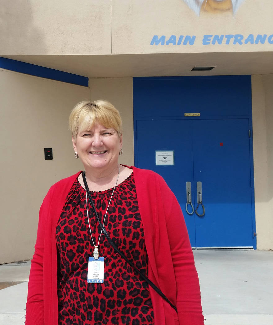 Celia Shortt Goodyear/Boulder City Review Jamey Hood, principal at Garrett Junior High School, was named Nevada's Middle School Principal of the Year for the National Association of Secondary Scho ...