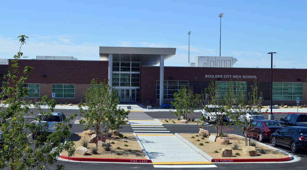 Celia Shortt Goodyear/Boulder City Review Boulder City High School is one of four public schools in town that is facing last minute budget issues due to the school district's recently announced $6 ...
