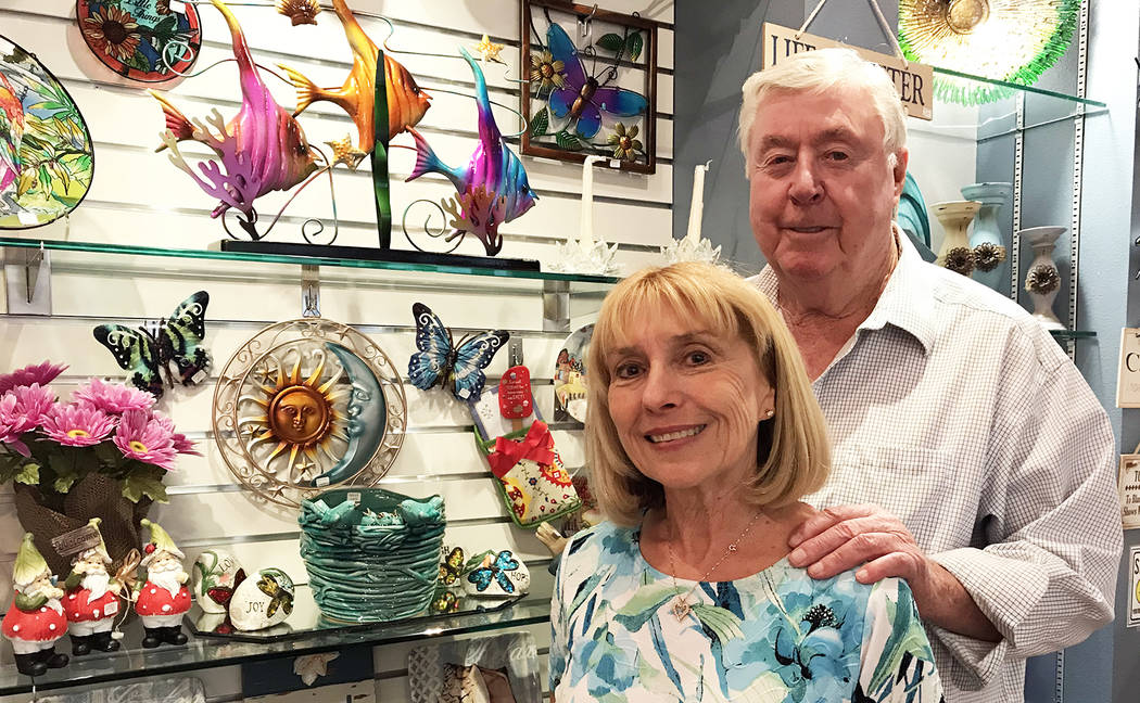 Hali Bernstein Saylor/Boulder City Review Kathy and Jim Calhoun of Boulder City are this year's recipients of the Heart of the Community award presented by the Boulder City Hospital Foundation. Th ...