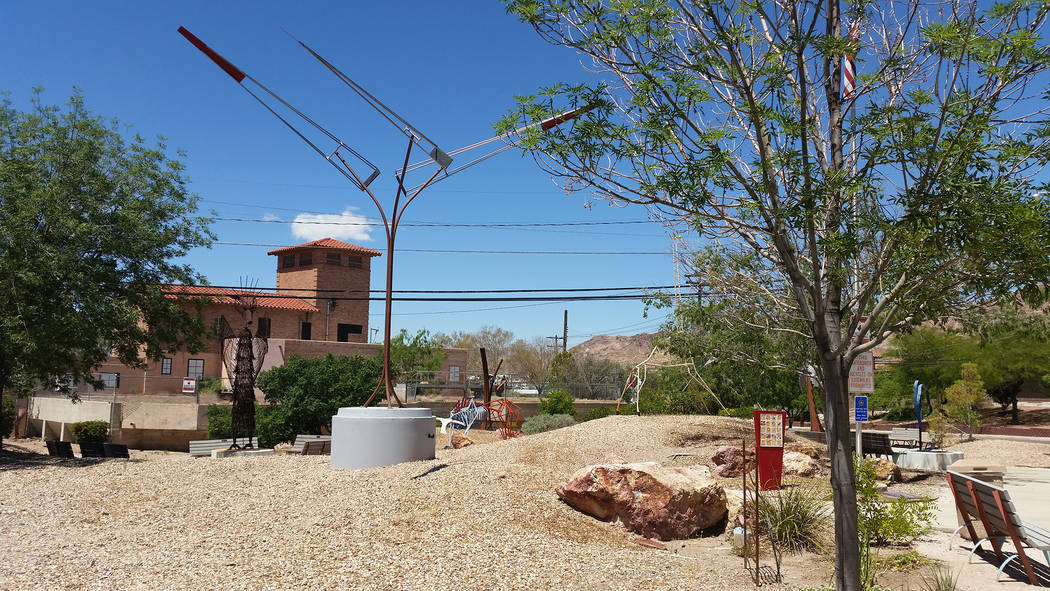 Celia Shortt Goodyear/Boulder City Review Teddy Fenton Memorial Park Reflections Center, 300 Railroad Ave, is more commonly referred to as Reflections Park and features sculptures created by membe ...