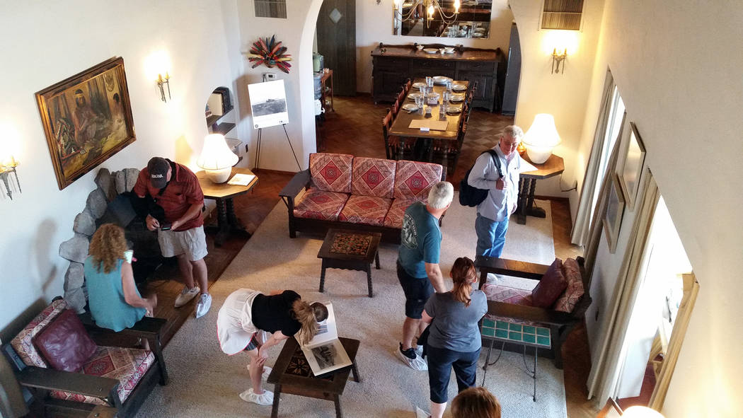 Celia Shortt Goodyear/Boulder City Review Attendees tour the Six Companies Executive Lodge in town as part the 2018 Historic Preservation Day on Saturday, May 12. The building is currently owned b ...