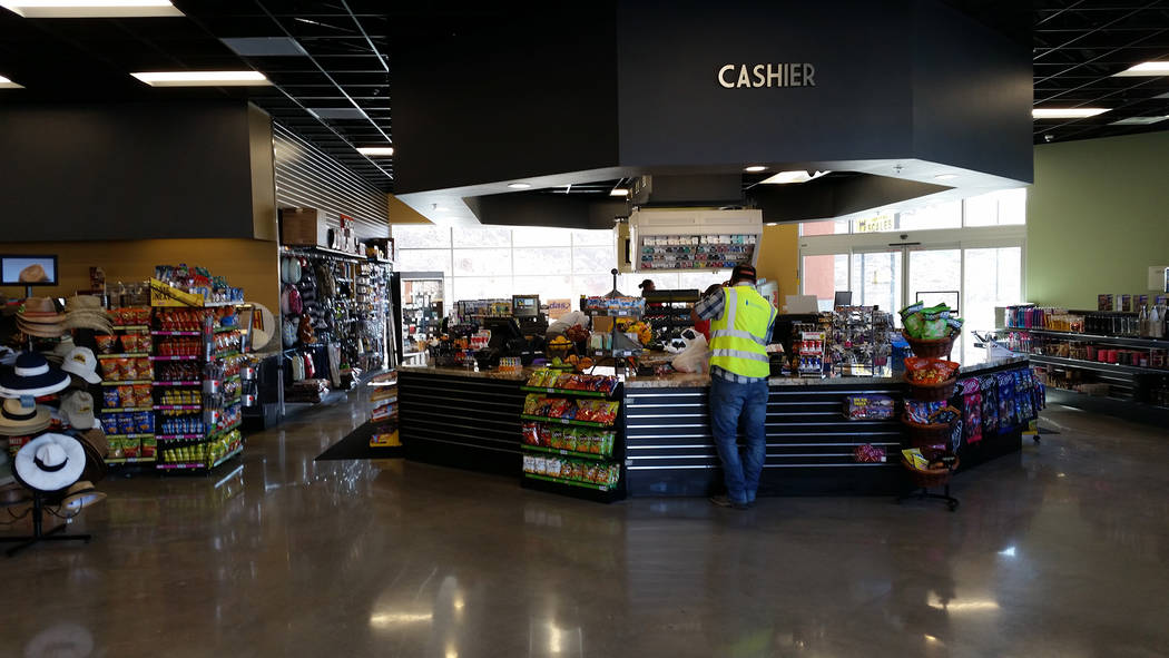 Celia Shortt Goodyear/Boulder City Review The Travel Center at Railroad Pass includes an 8,500 square foot convenience store that sells food, travel items, and souvenirs. It also has showers.