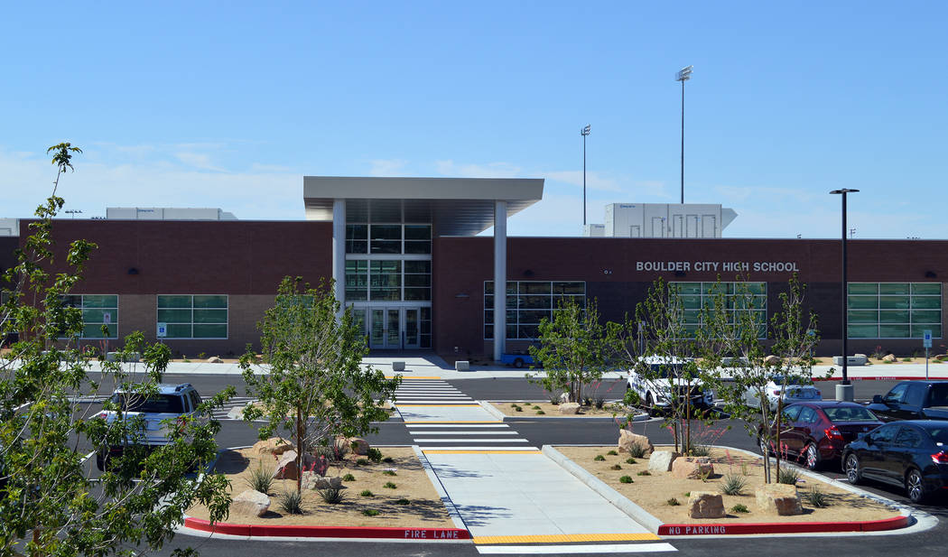 Celia Shortt Goodyear/Boulder City Review Boulder City High School will not have to cut any teacher positions with the projected $68 million Clark County School District deficit.