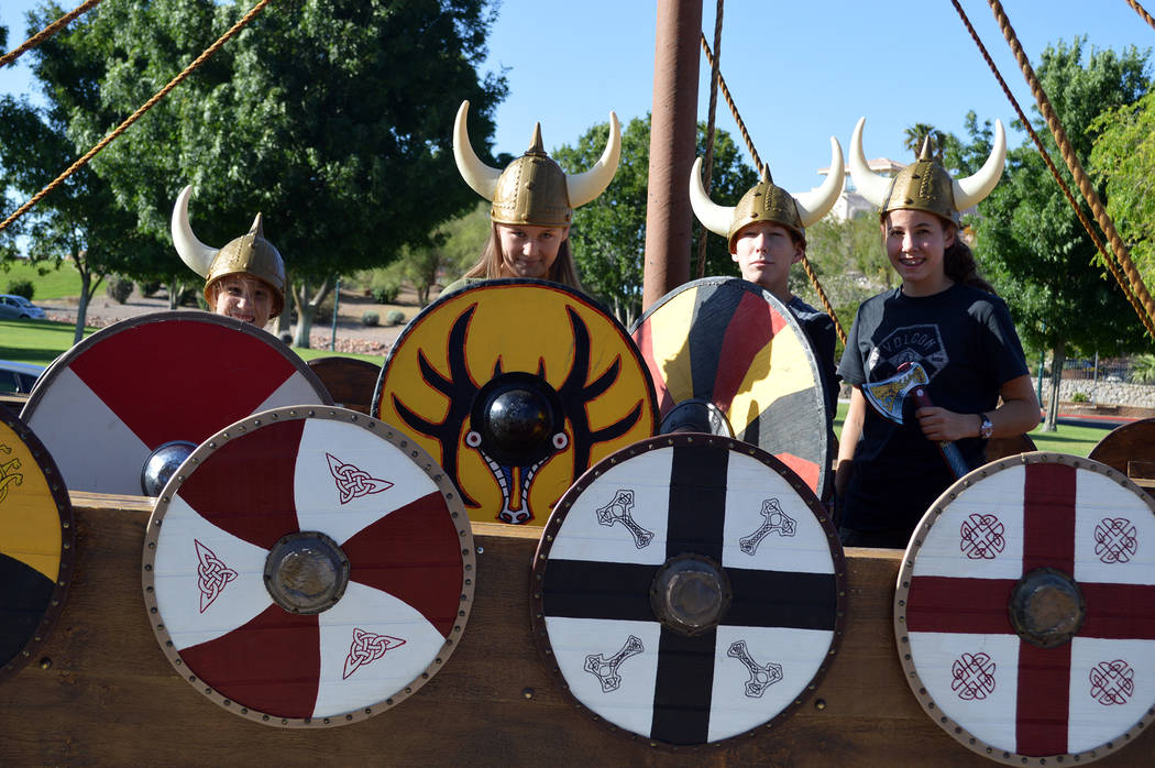 Celia Shortt Goodyear/Boulder City Review The Sons of Norway Constitution Day celebration at Bicentennial Park on May 17 featured the replica of a Viking ship in which people of all ages enjoyed d ...