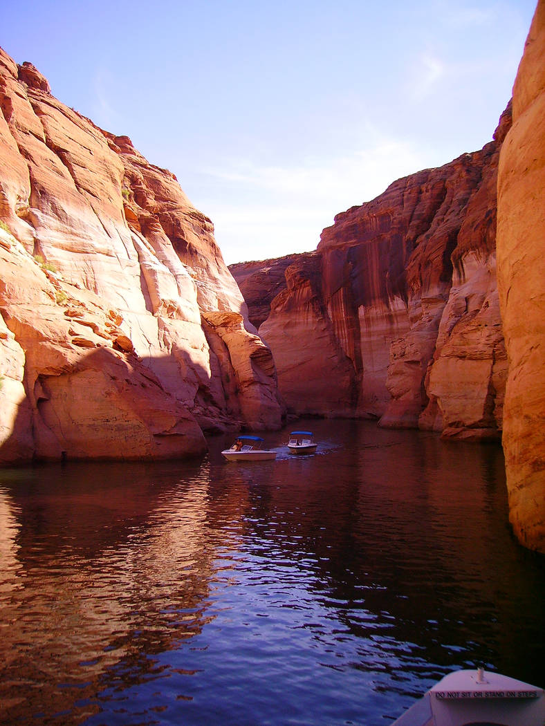 Deborah Wall There are dozens of side canyons to explore when on Lake Powell. The lake is in Glen Canyon National Recreation Area in Arizona and Utah.