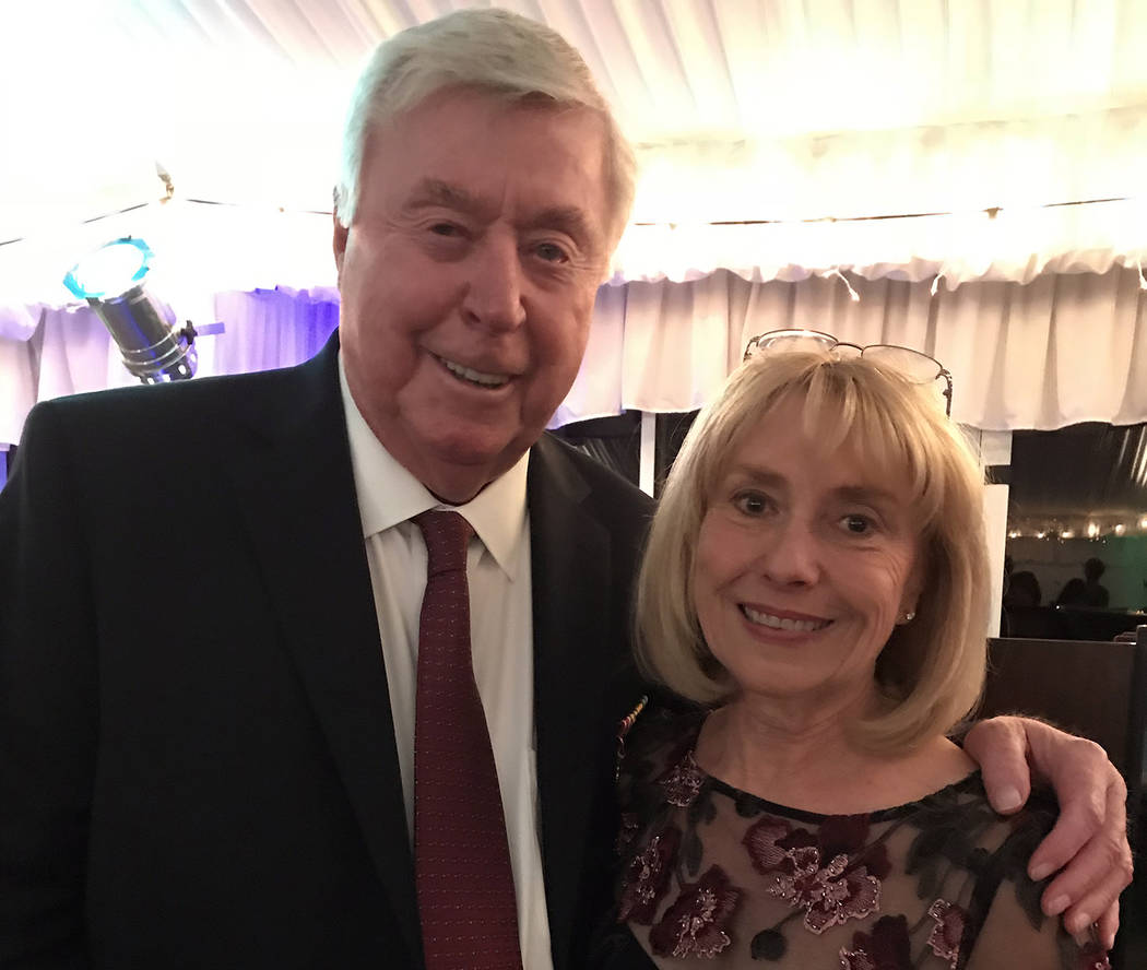 Hali Bernstein Saylor/Boulder City Review Jim and Kathy Calhoun of Boulder City were honored Saturday as recipients of the ninth annual Heart of the Community award presented by the Boulder City H ...