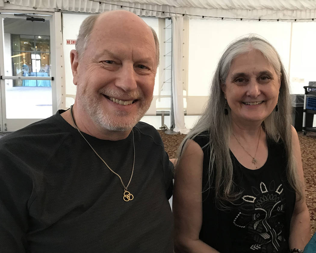 Hali Bernstein Saylor/Boulder City Review Marvin and Francyl Gawryn were among those who attended Boulder City Hospital Foundation's annual fundraiser, the Heart of the Community, on Saturday at B ...