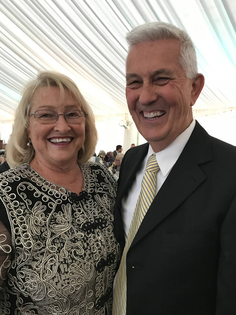 Hali Bernstein Saylor/Boulder City Review Teresa and Michael Giroux, last year's recipients of Boulder City Hospital Foundation's Heart of the Community award, were on hand to recognize this year' ...