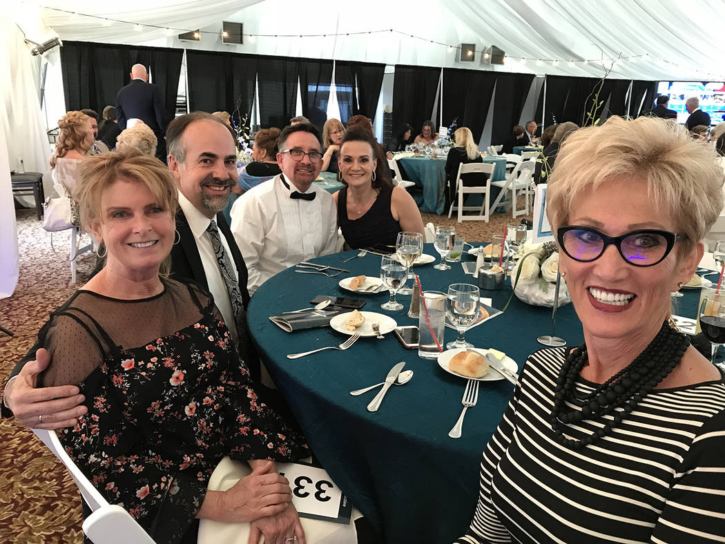 Hali Bernstein Saylor/Boulder City Review Enjoying a chance to visit and help Boulder City Hospital at its foundation's annual Heart of the Community gala were, from left, Priscilla Runion, Bret R ...