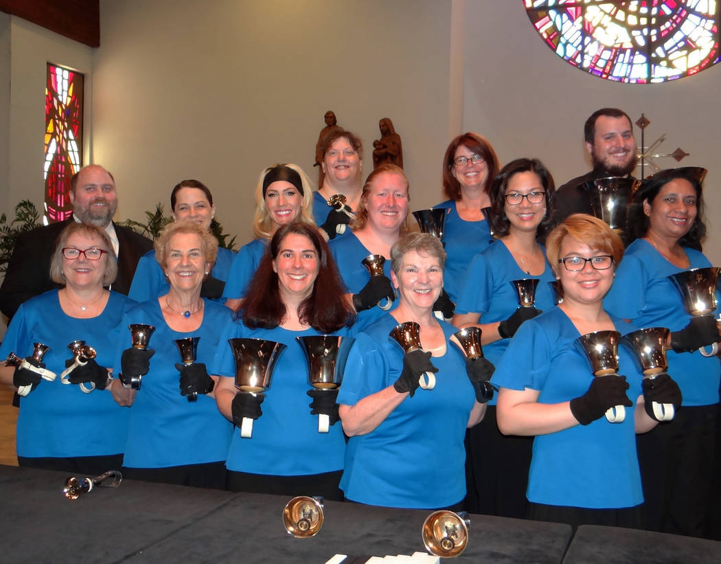 Courtesy photo Boulder City's Harmony Handbells will perform with more than 100 ringers of choirs from across Nevada and California at 5:30 p.m. Saturday at the Boulder City Parks and Recreation D ...