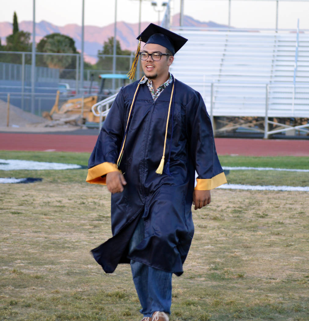 Celia Shortt Goodyear/Boulder City Review Mason Wanigasekera graduated from Boulder City High School on Friday. He is in the process of getting his pilot's license and plans to pursue a job in tha ...