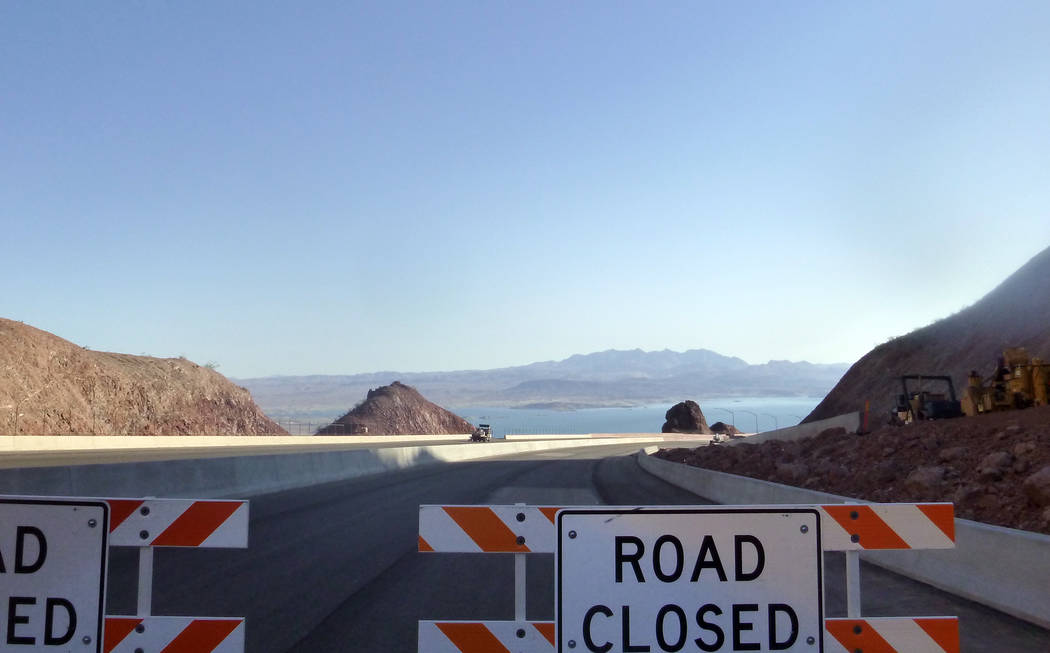Celia Shortt Goodyear/Boulder City Review Interstate 11 will give drivers and passers-by this new view of Lake Mead when it opens in July. The roadway was opened to pedestrians and cyclists Saturd ...