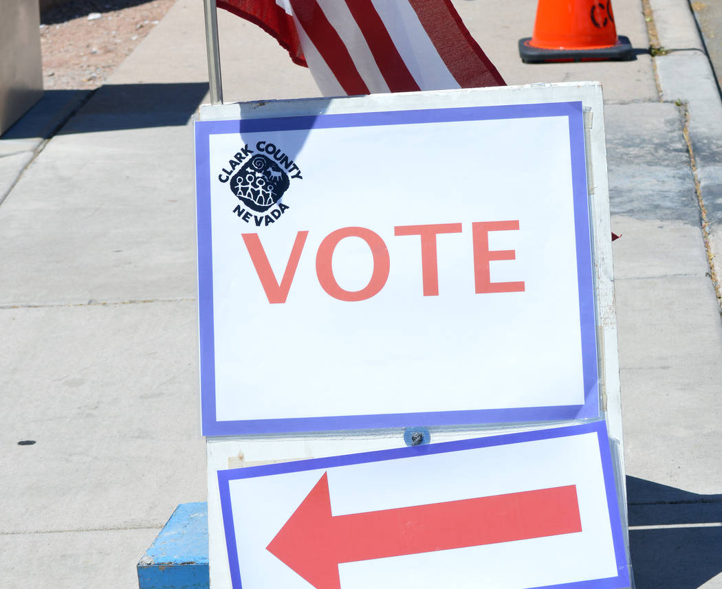 Celia Shortt Goodyear/Boulder City Review Tuesday was election day, and one of Clark County's voting centers was at the Boulder City Parks & Recreation Department at 900 Arizona St.