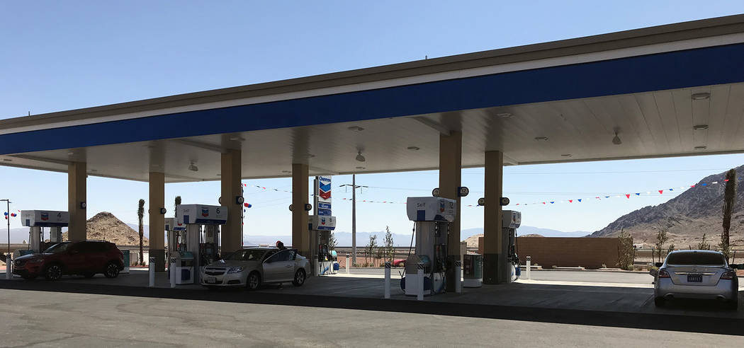Hali Bernstein Saylor/Boulder City Review The new travel center at Railroad Pass features 20 fueling stations for cars. The center officially opened Friday, June 8, 2018.