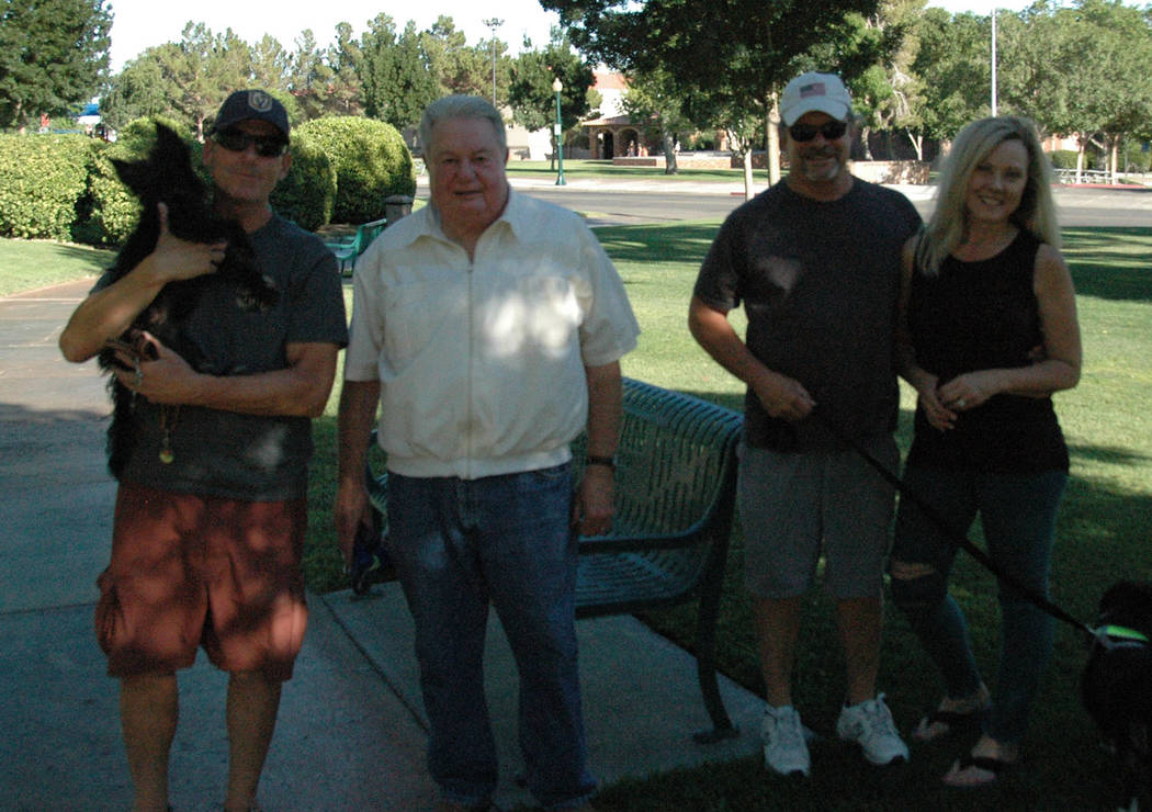 Jayme Sileo/Boulder City Review Getting ready to celebrate summer are Boulder City residents, from left, Mark Greenberg, Brent Caldwell, George Wright and Lisa Wright.