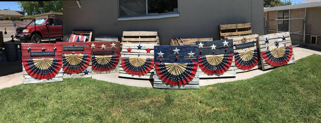 Patty Sullivan This year's Fourth of July parade will feature these patriotic pallets.