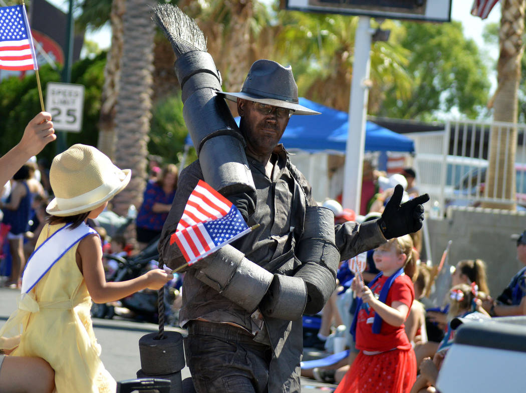"Celia Shortt Goodyear/Boulder City Review Justin Keogh of the Boulder City History and Arts Foundation portrays ""Alabam"" during the 70th annual Damboree parade in Boulder City on Wednesday."
