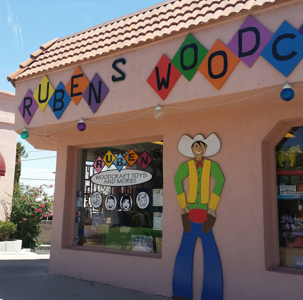 Celia Shortt Goodyear/Boulder City Review Ruben's Wood Craft and Toys, 555 Hotel Plaza, features toys and crafts for children of all ages.