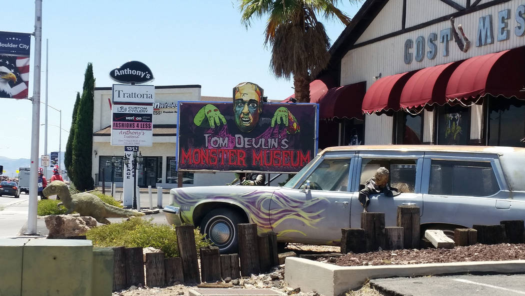 Celia Shortt Goodyear/Boulder City Review Tom Devlin's Monster Museum, 1310 Boulder City Parkway, features spooky fun for the whole family.