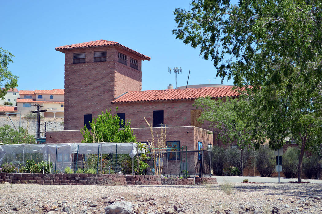 Celia Shortt Goodyear/Boulder City Review Boulder City resident and Cooper Roofing & Solar President Scott Donnelly is installing a new roof on the old water filtration plant at no cost to the city.