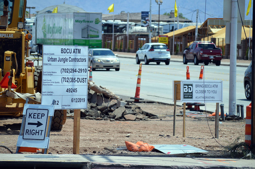 Celia Shortt Goodyear/Boulder City Review Boulder Dam Credit Union is installing two drive-up ATMs at the corner of Yucca Street and Boulder City Parkway. They project is expected to be finished O ...