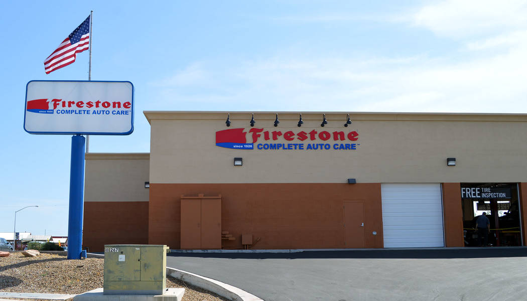 Celia Shortt Goodyear/Boulder City Review Firestone Complete Auto Care, 1323 Boulder City Parkway, recently opened.