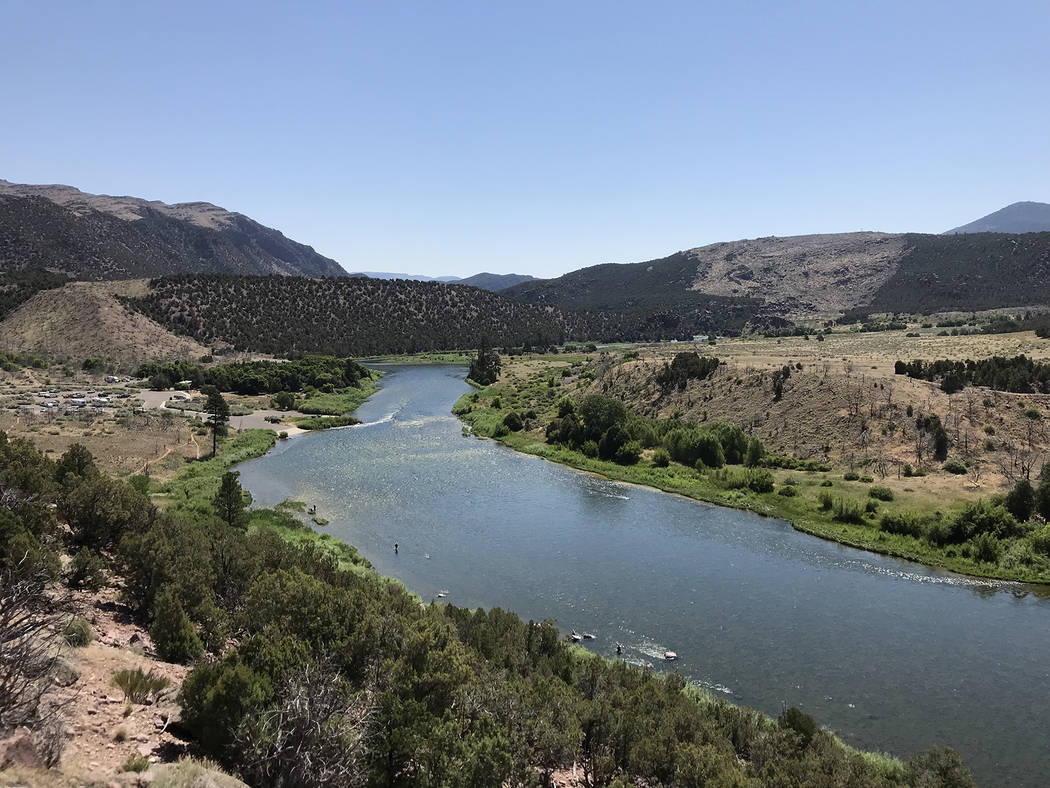 Deborah Wall The Green River at Little Hole in northern Utah has boat ramp and picnic area.