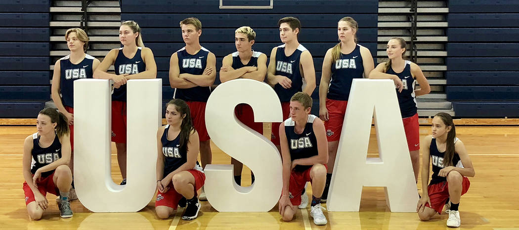 John Balistere Current and past Eagles from Boulder City High School demonstrated basketball skills during the USA Basketball Las Vegas Coach Academy presented by Nike July 25-27 at the school.