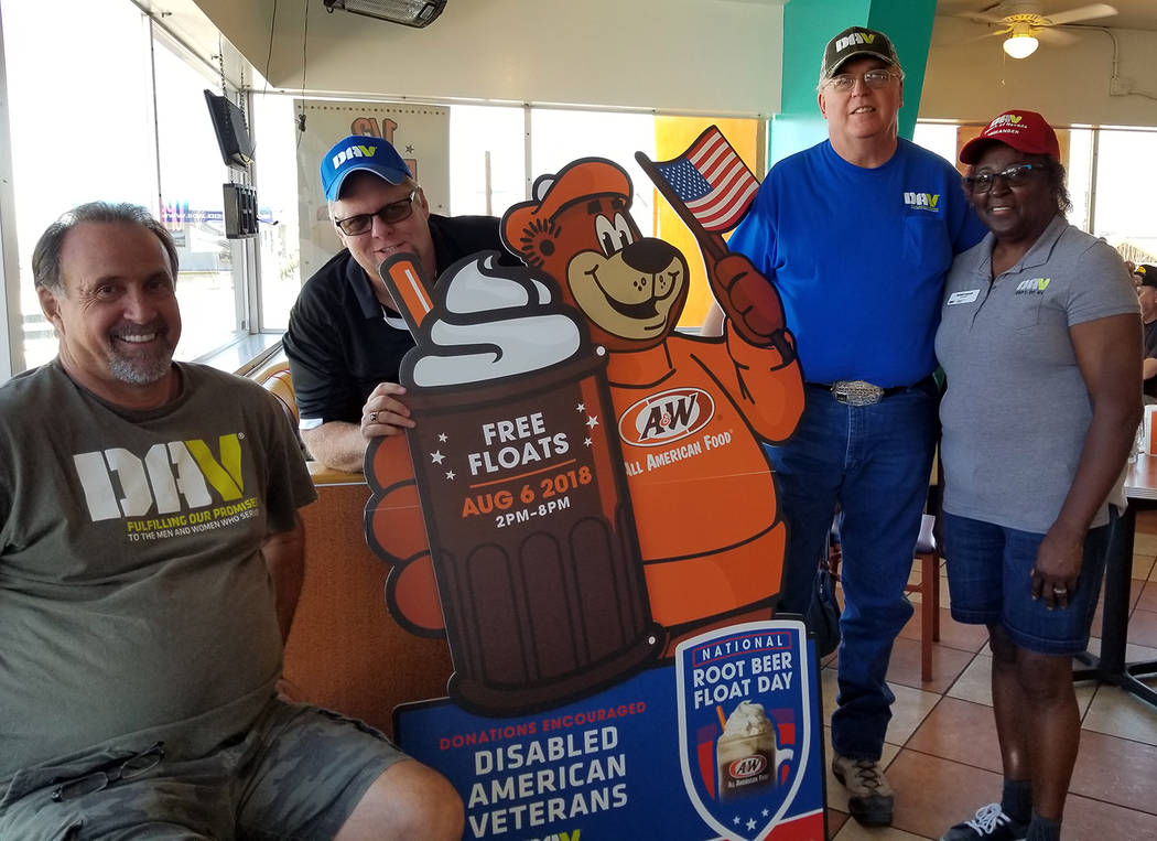 Bill Dolan Representatives from the Disabled American Veterans, Black Mountain Chapter 12, from left, Mike Salomonson, commander; Delvin Bourn, senior vice commander; Bill Dolan, past department c ...