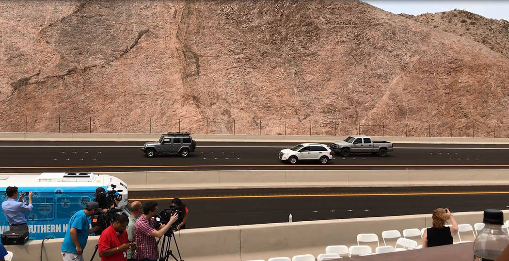 Hali Bernstein Saylor/Boulder City Review Interstate 11 opened to traffic Aug. 9.