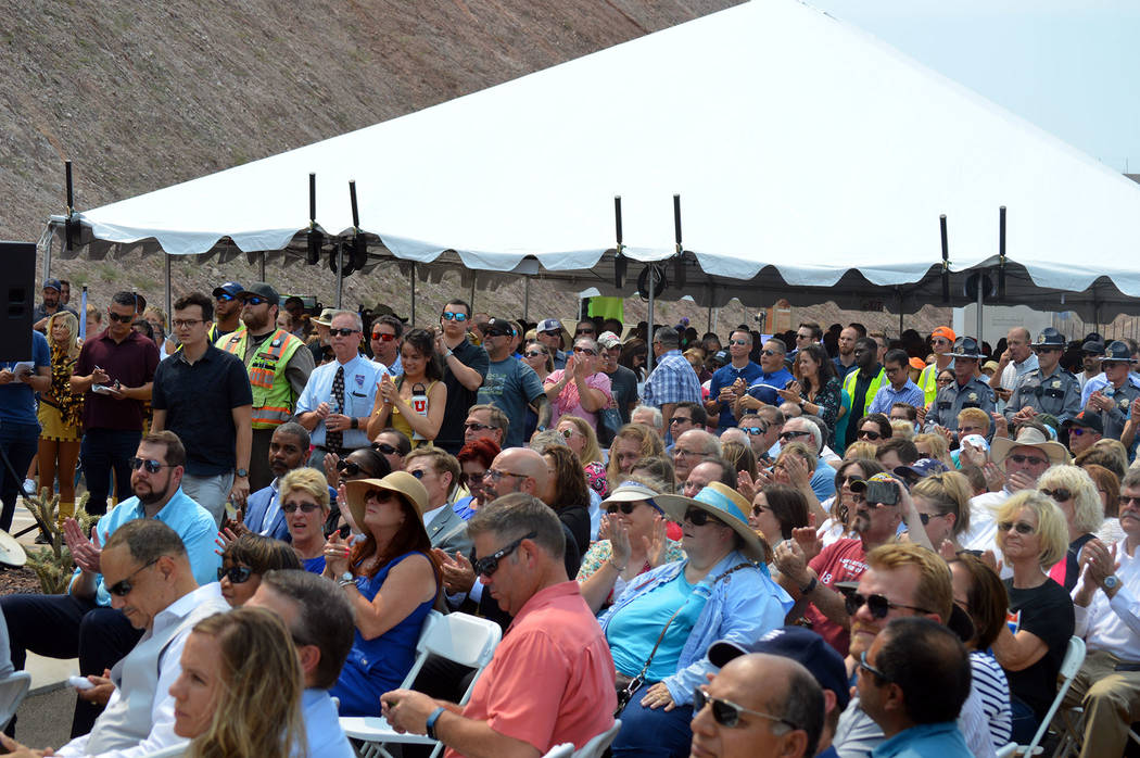 Celia Shortt Goodyear/Boulder City Review Five hundred people attended Interstate 11's grand opening ceremony Aug. 9.