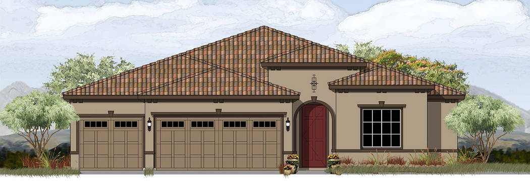 StoryBook Homes and KTGY Plan 2A is one of five models StoryBook Homes will build at its Boulder Hills Estates subdivision at Adams Boulevard and Bristlecone Drive. The 2,223-square-foot home feat ...